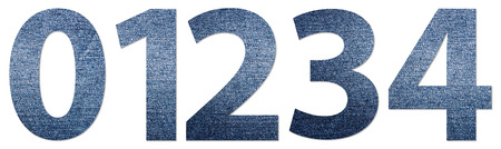 Denim Jeans Texture Numbers 0-4 photo