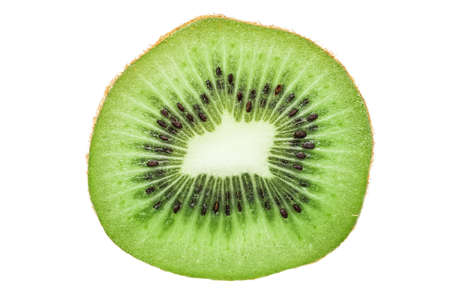 Fresh Kiwi Slice Isolated On White photo
