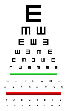 Snellen Eye Chart Test Used In Young Children Vector