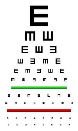 snellen: Snellen Eye Chart Test Used In Young Children Illustration