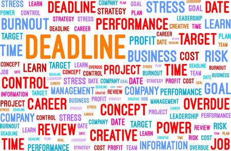 Deadline Word Cloud Vector Illustration Vector