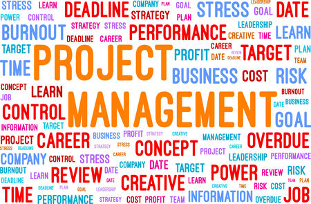 Project Management Word Cloud Vector Illustration Stock Vector - 26528731