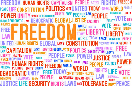Freedom Word Cloud Concept Vector Illustration Vector
