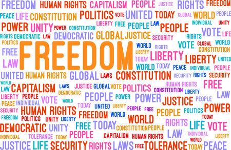 capitalismo: Liberdade Word Cloud Concept Ilustra