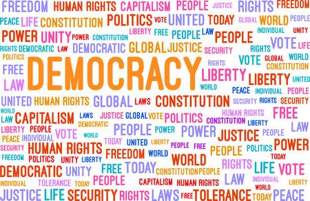 capitalismo: Democracia Word Cloud Concept Ilustra