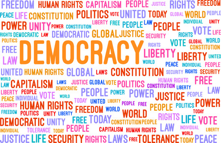 Democracy Word Cloud Concept Vector Illustration Illustration
