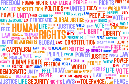 Human Rights Word Cloud Concept Vector Illustration Vector
