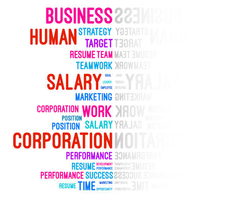 work related: Business Company Word Cloud Vector Illustration Illustration