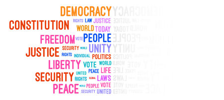 Democracy Word Cloud Concept Vector Vector