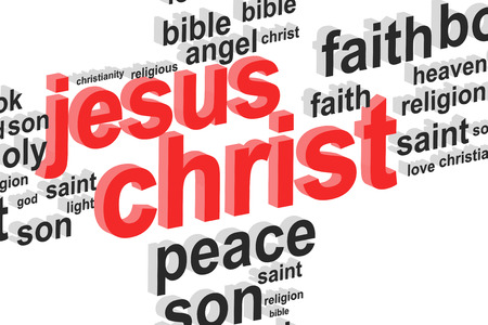 Jesus Christ Word Cloud Concept Illustration illustration