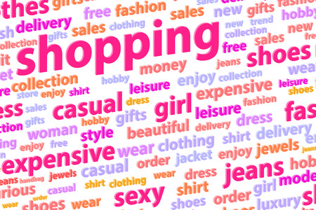 Shopping Word Cloud Concept Illustration illustration