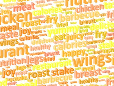 Fast Food Restaurant Word Cloud Concept Illustration illustration