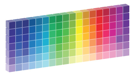 3D Color Palette Vector Vector