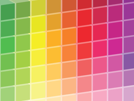 Rainbow Colored Squares Palette photo