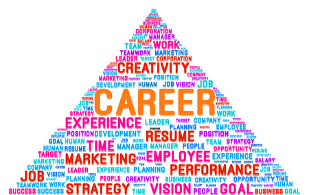 Advancing To The Top Of The Pyramid In Career Word Cloud Vector Vector