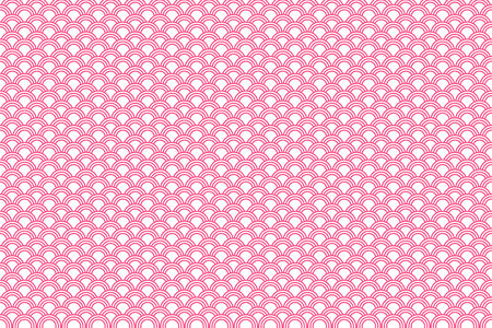 japanese pattern illustration: Pink Traditional Japanese Pattern Illustration Illustration