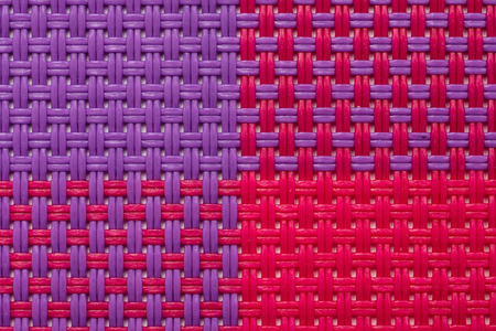 rattan mat: Four Colors Quarters Pattern Of Raffia Texture Macro Stock Photo
