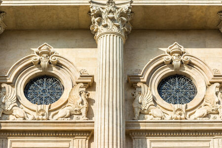 neoclassic: Neoclassic Architecture Detail With Corinthian Column