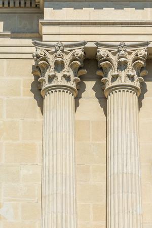 temple grec: Colonnes temple grec de Corinthe Banque d'images