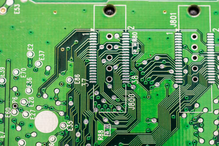 Electronic Computer Circuit Board Close Up photo