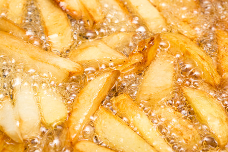 fryer: French Fries Boiling In Hot Oil