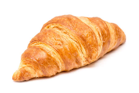 Fresh Croissant Isolated On White photo