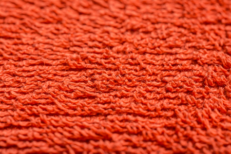 Orange Bath Towel Texture Macro Details photo