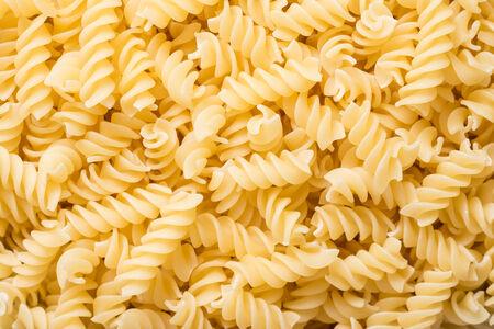 Spiral Shaped Italian Pasta Close Up photo
