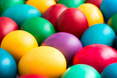 Pile Of Colorful Easter Eggs photo