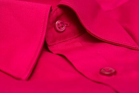terciopelo rojo: Red Velvet Hombre Elegante Camisa de primer plano Foto de archivo