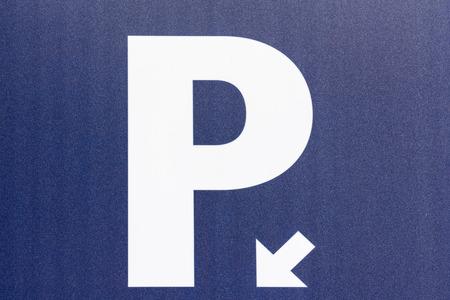 se�al parking: Aparcamiento Entrar Close Up