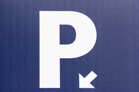 Car Parking Sign Close Up photo