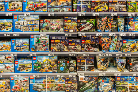 plastic bricks: BUCHAREST, ROMANIA - APRIL 28  Lego Toys on April 28, 2014 in Bucharest, Romania  The company s flagship product consists of colourful interlocking plastic bricks, array of gears and other parts  Editorial
