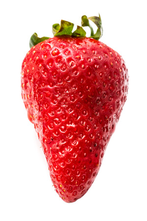 Red Wet Strawberry Isolated On White photo