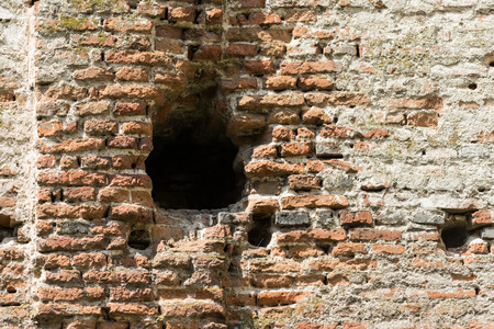Old Castle Brick Wall Close Up photo