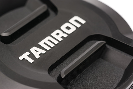 tele up: BUCHAREST, ROMANIA - MAY 12, 2014  Tamron Lens For Digital Single Lens Reflex Camera  Founded in 1950 is a Japanese company manufacturing photographic lenses, optical components and industrial optics