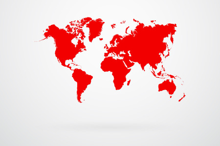 global map: Red World Map