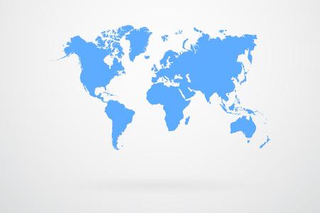 Blue World Map  Ilustração