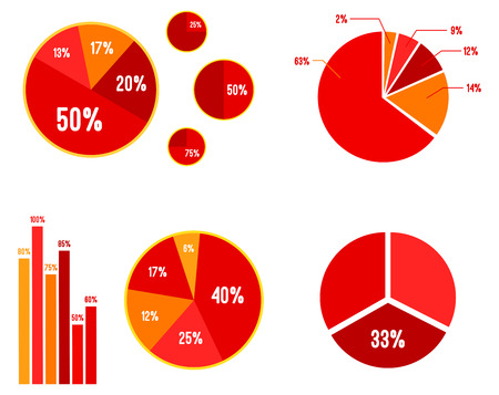 Pie Charts And Bar Graphic Statistics  Vector