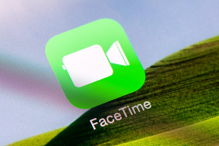 BUCHAREST, ROMANIA - JUNE 16, 2014  Facetime Application On Apple iPad Air  FaceTime is a videotelephony and voice over IP  VoIP  software application developed by Apple for iOS and Macintosh