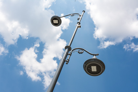 Street Light Pole Against Blue Sky