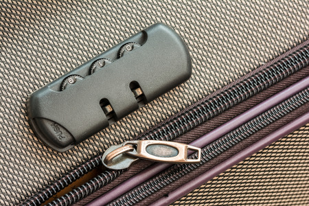 Briefcase Luggage Latch And Lock Close Up photo