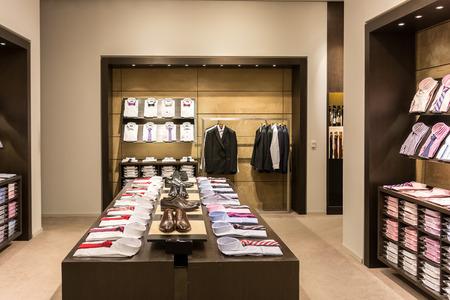 BUCHAREST, ROMANIA - JULY 22, 2014  Men Clothing Store Interior