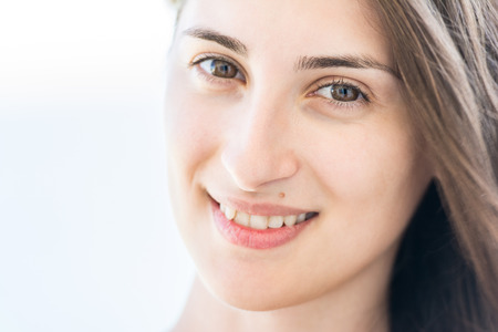 Pretty Young Girl Smile Close Up Portrait photo