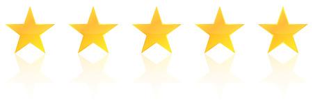 Five Star Produkt Qualitätsbewertung Mit Reflexion Illustration