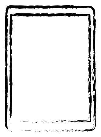 dessin craie: Dessin moderne Doodle Craie Tablet