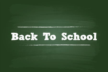 Back To School Sign On Green Board Vector