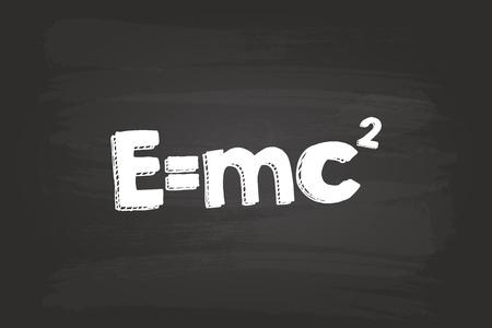 Einstein Theory Of Relativity Formula On Blackboard Vector