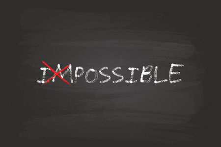 possible: Everything Is Possible Concept On Blackboard