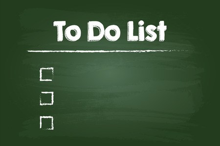 green board: To Do Check List On Green Board